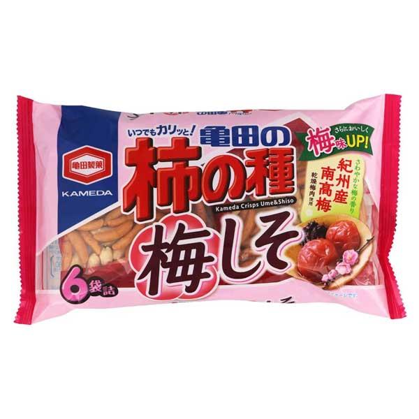Kaki no Tane - Prune Ume & Shiso - 6 packs | Oishi Market